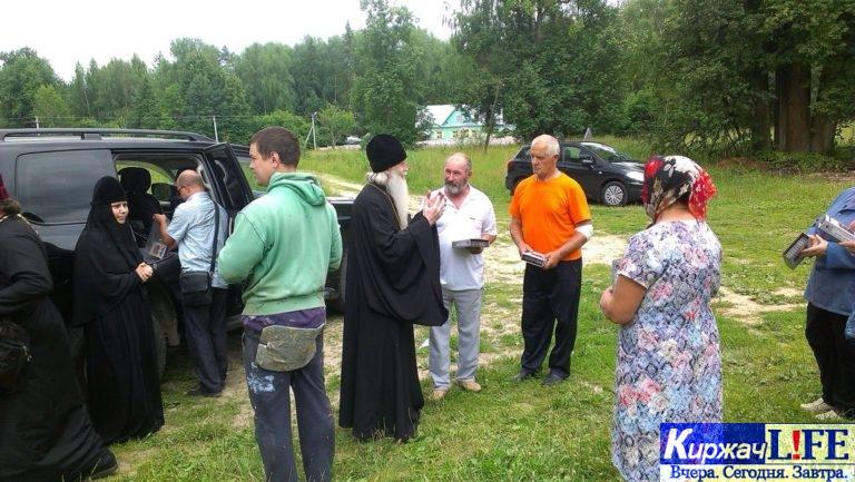 Архиепископ Александровский и Юрьев-Польский Евстафий посетил Свято-Андреевский храм д. Новосёлово