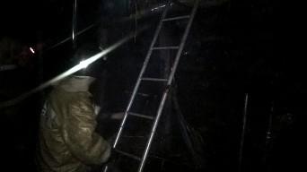 В Желдыбино сгорела баня